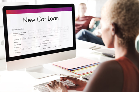loaning: New Car Loan Insurance Policy Protection Budget Concept
