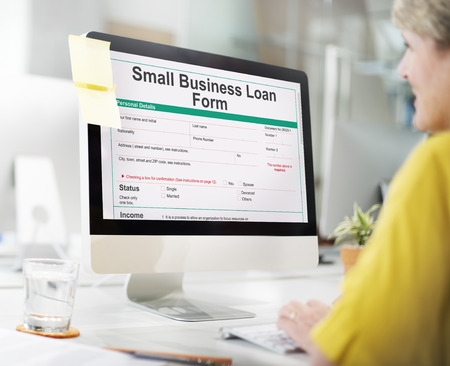 consolidate: Small Business Loan Form Ownership Concept