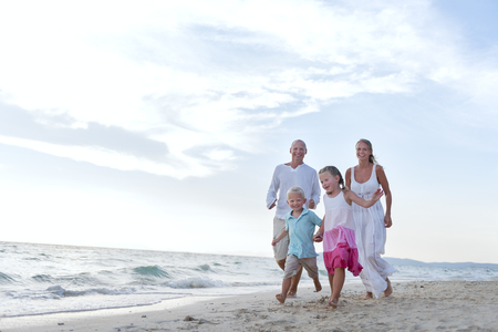 Beach Family Vacation Parent Children Relaxation Concept Stock Photo - 65170992