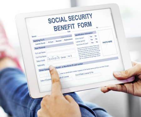 layoff: Social Security Benefit Form Application Concept