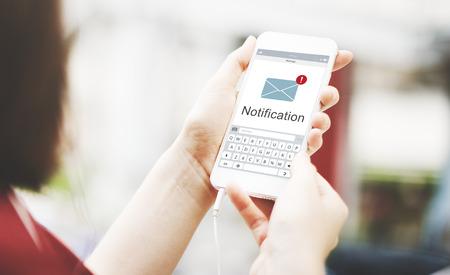 Mensaje en línea concepto de red Social