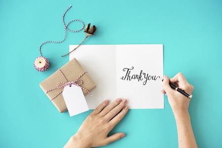 Thank You Thanks Gratitude Gift Appreciate Concept Imagens - 65473270