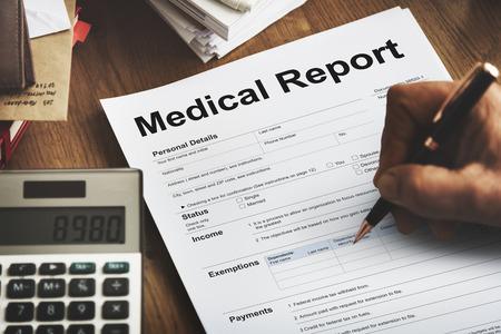 Concepto Paciente Formulario de Informe Médico Historial