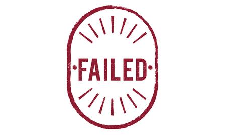 inability: Failed Fiasco Loss Unsuccessful Graphic Concept Stock Photo