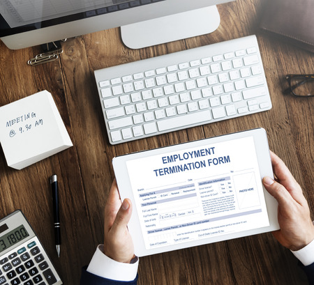 Employment Termination Form Contract Concept Stock Photo Picture