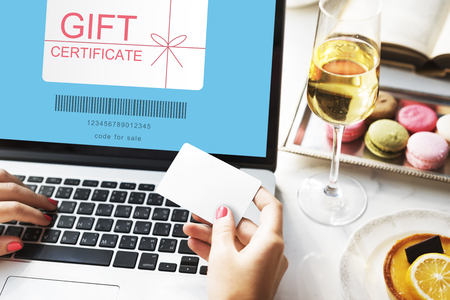 Gift certificate concept Stock Photo