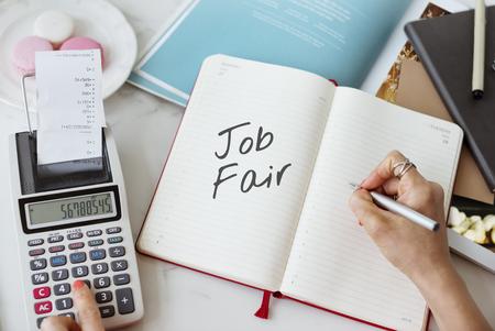 employing: Job Fair Activity Employing Hiring Occupation Concept