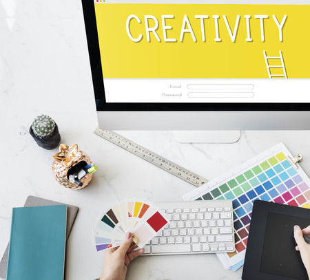 creativity: Creativity Design Ideas Bulb Innovation Concept Stock Photo