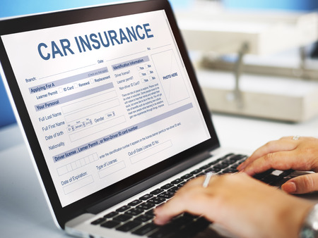 accidental: Car Insurance Form Accidental Concept