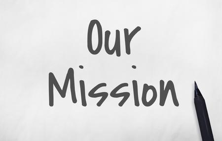 Onze missie Ideeën Leadership Concept Stockfoto