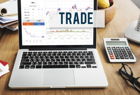 place of work: Stock Market Results Stock Trade Forex Shares Concept