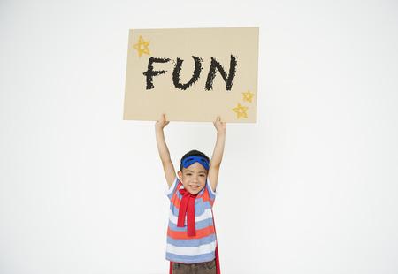 Kids Childhood Enjoy Fun Play Activity Concept Stock Photo