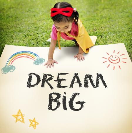 꿈 큰 상상력 목표 목표 영감 개념