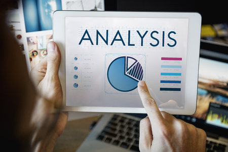 Tablet with analysis concept Stock Photo