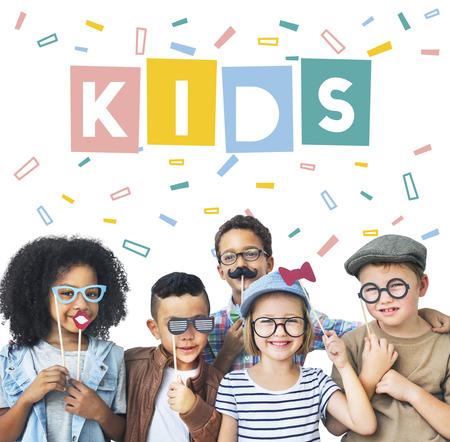 Enjoy Happy Imagination Kids Concept Stock Photo