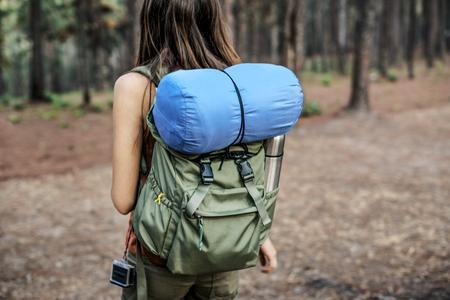 exploring: Girl Exploring Freedom Outdoors Concept