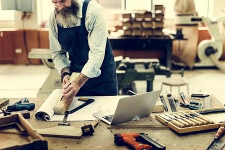 capability: Carpenter Craftsman Handicraft Wooden Workshop Concept