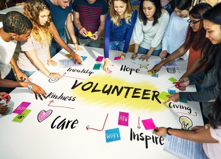 kindness: Volunteer Help Donation Hope Kindness Concept
