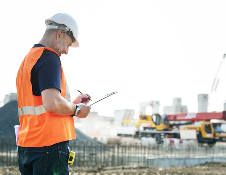 under control: Architecture Construction Safety First Career Concept Stock Photo
