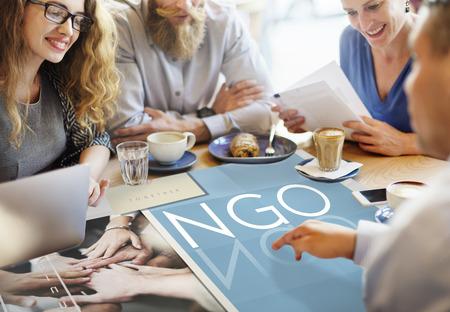 ngo: NGO Contribution Corporate Foundation Nonprofit Concept