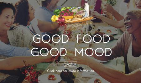 buen vivir: Good Food Mood Healthy Living Nutrition Dining Concept