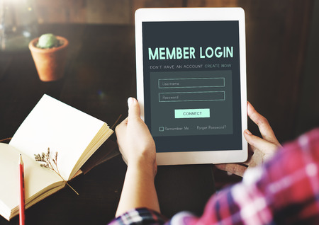 username: Member Log in Membership Username Password Concept Stock Photo