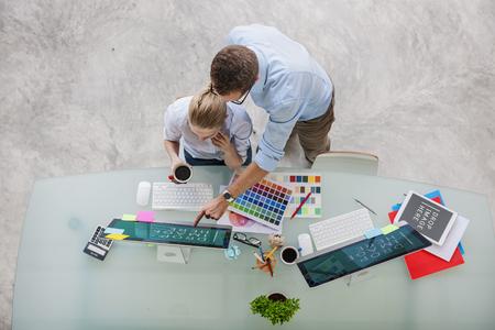 Color Swatch Creative Occupation Design Concept studio