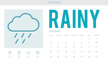 estimation: Rainy Forecast Weather Rainy Cloud Concept