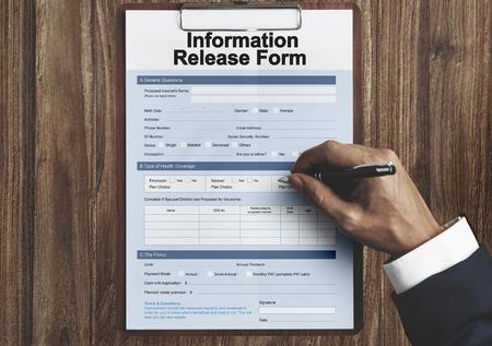 disclosure: Information Release Form Document Concept