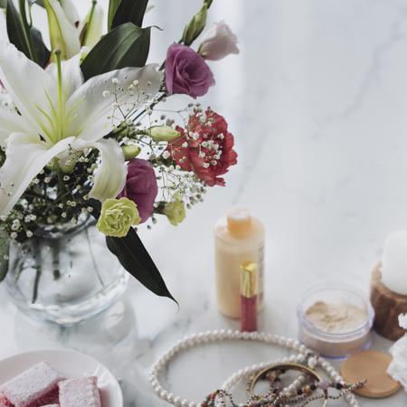 nailpolish: Vogue Vivid Varnish Trendy Elegance Cosmetics Concept Stock Photo