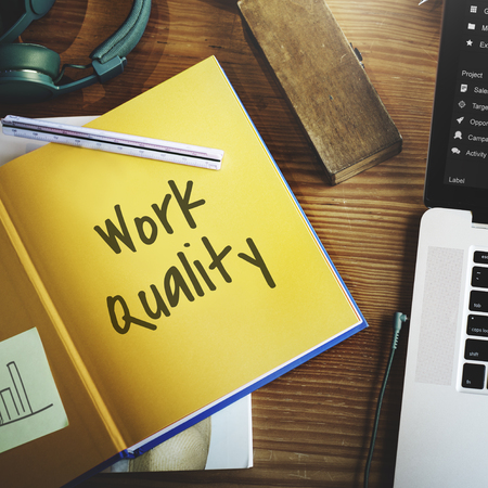 smarter: Work Quality Smarter Excellent Concept Stock Photo