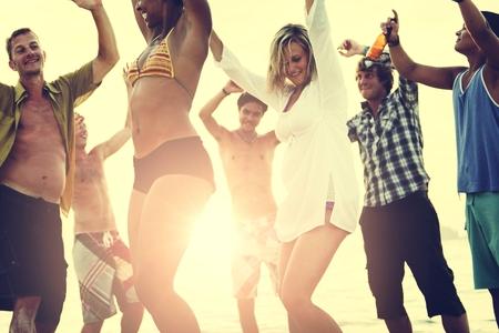 springbreak: Beach Vacation Enjoying Holiday Relaxation Concept Stock Photo