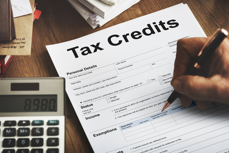 deduction: Tax Credits Claim Return Deduction Refund Concept