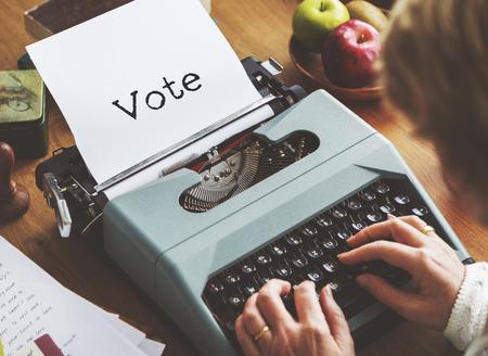 balloting: Vote Balloting Poll Journalism Concept