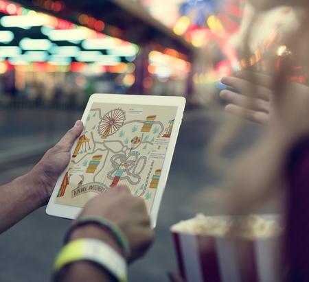theme park: Amusement Carnival Theme Park Funfair Festival Concept