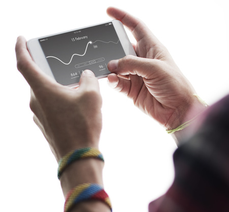 usage: Application Usage Graph Chart Concept Stock Photo