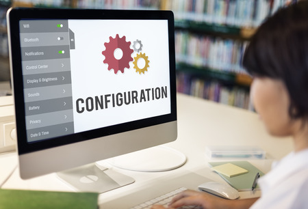 config: Configuration Settings Setup Tools Concept Stock Photo