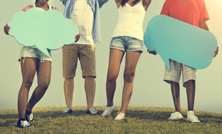 peers: Friends Hanging Out Together Concept Stock Photo