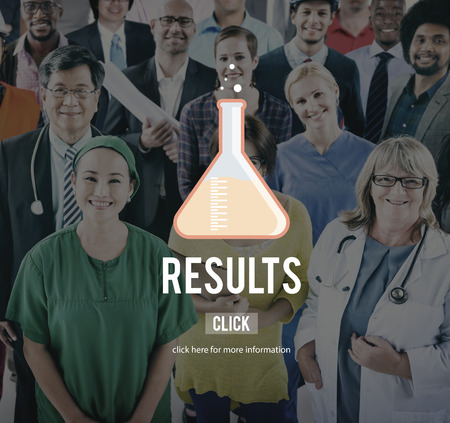 outcome: Results Effect Outcome Assessment Evaluation Concept Stock Photo