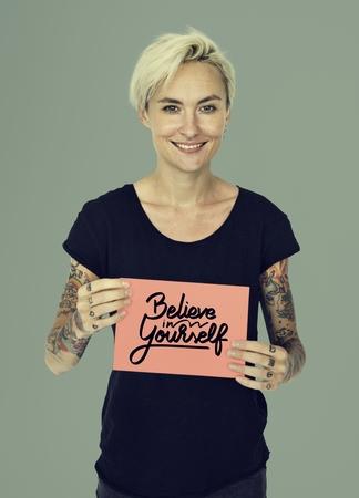 believe: Believe Aspiration Inspiration Motivate Tattoo Concept