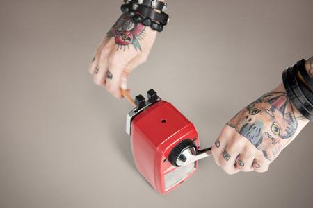 grafit: Tattoo Pencil Sharpener Graphite Supply Tool Concept