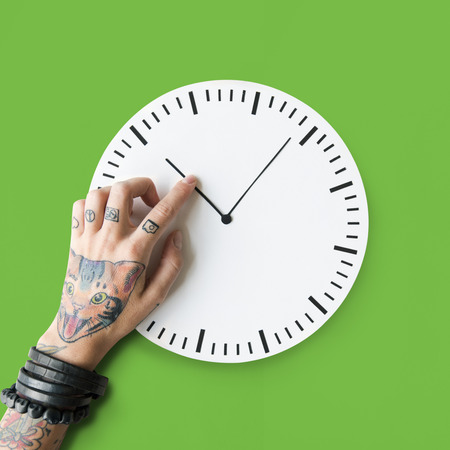 punctual: Tattoo Time Schedule Duration Punctual Second Concept Stock Photo