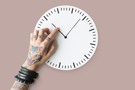 Duration: Tattoo Time Schedule Duration Punctual Second Concept Stock Photo
