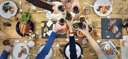 Group Of People Cheers Concept Фото со стока - 65797701