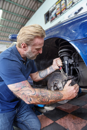 auto repair: Auto Repair Shop Mechanic Technician Concept