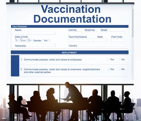 immunize: Vaccination Documentation Application Form Concept