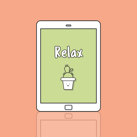 Relax concept on digital tablet 写真素材
