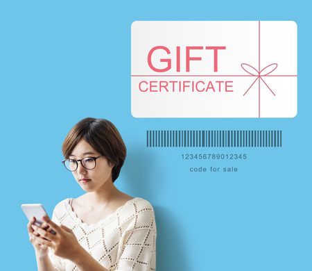 Gift card certificate concept Stock Photo