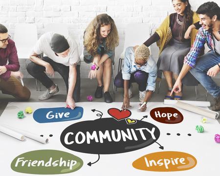 Donations Charity Volunteer Words Concept Archivio Fotografico
