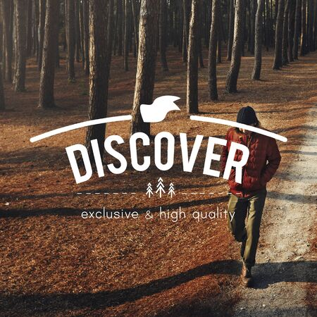 discover: Holiday Lifestyle Travel Discover Concept Stock Photo
